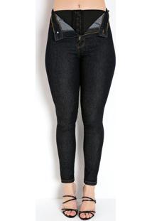 Calça Jeans Escura Super Lipo Skinny Sawary