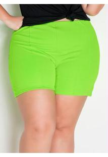 Short Verde Neon Plus Size