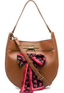 Love Moschino Scarf-Detail Shoulder Bag - Marrom