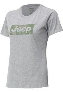 Camiseta Fem. Jeep Camuflada Mask - Feminino-Cinza