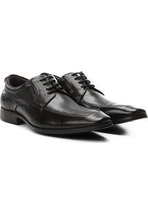 Sapato Social Democrata Cadarço Masculino - Masculino-Preto