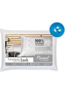 Travesseiro Lush Pluma De Ganso Branco 50X70