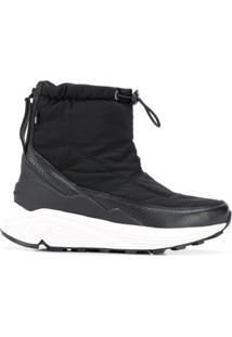 Woolrich Ankle Boot Com Cordão De Ajuste - Preto