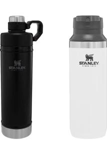 Garrafa Térmica Switchback 473Ml + Stanley 750Ml Hydration Preta