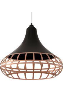 Luminária Pendente Combine 1440 Preto/Bronze - Spirit