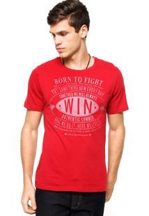 Camiseta Sommer Born Vermelha