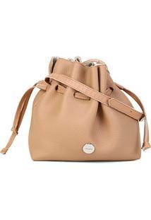 Bolsa Anacapri Mini Bag Med Floater Bag Feminina - Feminino-Marrom Claro