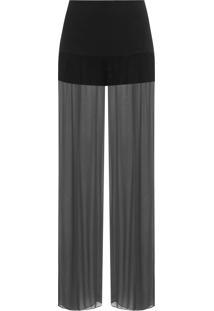 Calça Feminina Pantalona Angelina - Preto