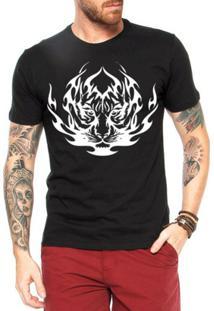 Camiseta Criativa Urbana Tigre Tribal - Masculino