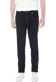 Calça Sarja Calvin Klein Jeans Slim Color Five Pocket Azul-Marinho