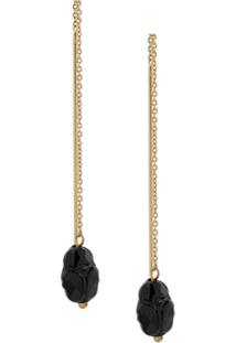 Isabel Marant Carved Raindrop Earring - Dourado
