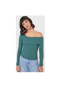 Blusa Colcci Recorte Ombro Verde