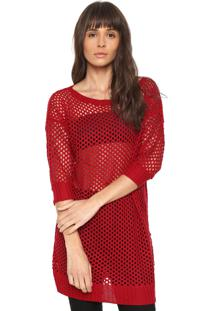 Blusa Sommer Tricot Básica Vermelha