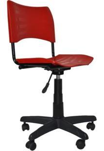 Cadeira Giratória Iso Plástica Vermelho