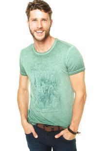Camiseta Benetton New York Verde