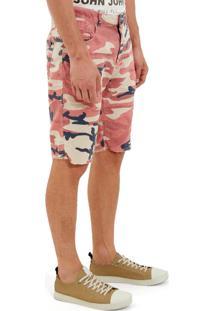 Bermuda John John Clássica Colonia Sarja Camuflado Estampado Masculina (Estampado, 48)