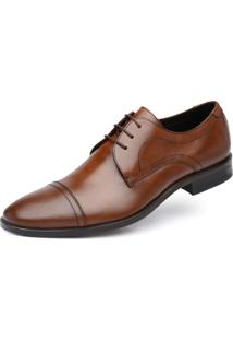 Derby Jacometti Cap Toe Conhaque 67075