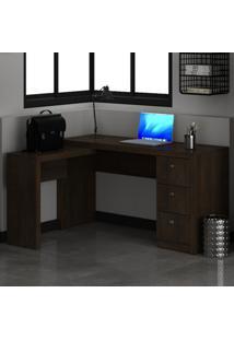 Mesa Para Escritório 3 Gavetas Rústico Me4101 - Tecno Mobili
