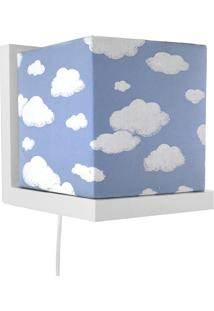 Arandela Branca Cubinho Azul Quarto Beb㪠Infantil Menino - Azul - Menino - Dafiti