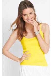 Blusa De Alcinha Básica Amarela