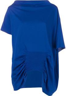 Pierantoniogaspari Blusa Com Pregas - Azul