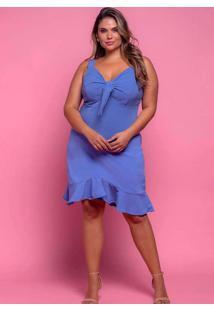 Vestido Almaria Plus Size Plump Curto Nó Frontal A