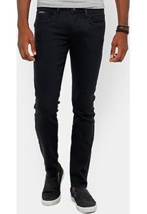 Calça Jeans Skinny Calvin Klein Super Escura Masculina - Masculino