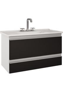Gabinete De Banheiro Treviso - Branco/Preto - Mgm