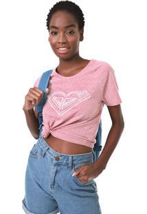 Camiseta Roxy Vintage Handmade Rosa - Rosa - Feminino - Dafiti