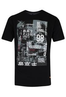 Camiseta Fatal Estampada 20378 - Masculina - Preto