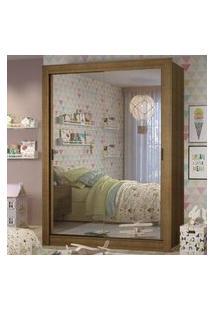 Guarda-Roupa Infantil Madesa Theo 2 Portas De Correr De Espelho 4 Gavetas Rustic Rustic