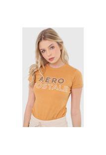 Camiseta Aeropostale Logo Amarela