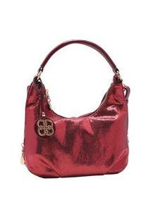 Bolsa Feminina Chenson Metalizado Glam Vinho 3483187