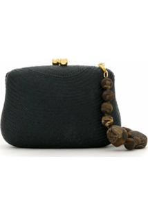 Serpui Clutch Blair De Palha - Preto