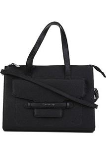 Bolsa Dumond Shopper Soft Relax Media Feminina - Feminino-Preto