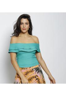Blusa Ciganinha Com Babados - Verdemoiselle