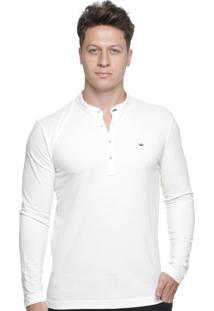 Camisa Gola Padre Alfaiataria Burguesia Branco Off Slim Fit