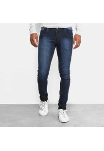 Calça Jeans Slim Coffee Escura Masculina - Masculino