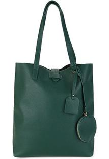 Bolsa Shoestock Shopper Note Feminina - Feminino-Verde