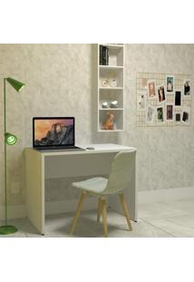 Mesa Para Escritório Kit Cubos Bramov Móveis Branco