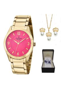 0e3441e4d Relógio Digital Cristal Dourado feminino   Gostei e agora?