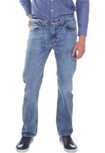 Calça Jeans 505 Levis Regular Média Masculina - Masculino-Azul