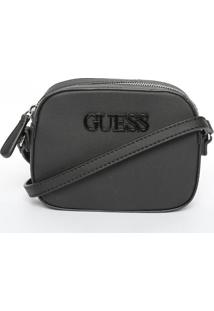 Bolsa Transversal ''Guessâ®''- Preta- 13,5X18X5,5Cm