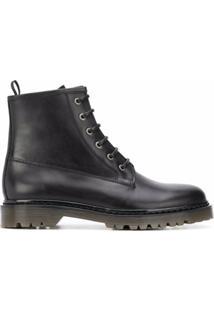 A.P.C. Ankle Boot Com Cadarço - Preto