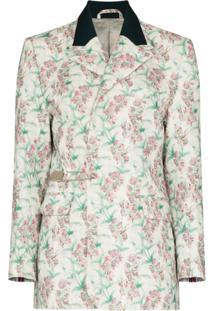 Charles Jeffrey Loverboy Blazer Com Estampa Floral - Branco