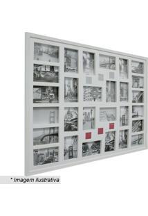 Painel Para 28 Fotos- Branco- 74X94X3Cmkapos