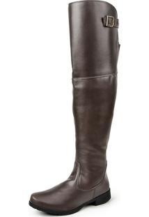 Bota Over The Knee Luma Ventura Linha Standard 002 Marrom Escuro