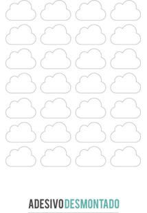 Adesivo Decohouse De Parede Nuvens Branco