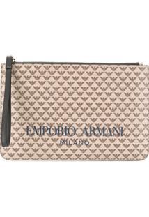 Emporio Armani Top-Zip Clutch Bag - Neutro