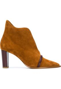 Malone Souliers Pointed-Toe Ankle Boots - Marrom